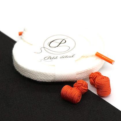 Set city Blanc & Orange - Lacets Made in France - Petit-détail.com