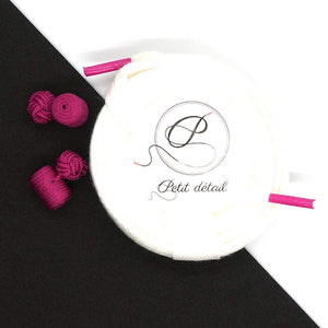 Set city Blanc & Rose Fuchsia - Lacets Made in France - Petit-détail.com
