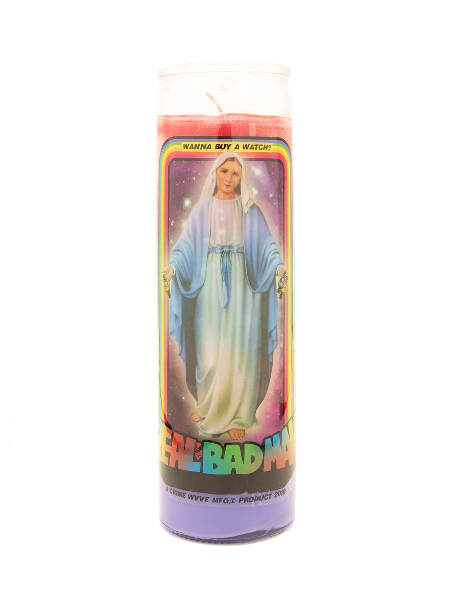 MARY WITH THE WATCHES PRAYER CANDLE