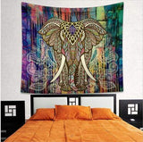 Stay Boho Elephant Colorful Tapestry