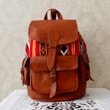 Stay Boho Kilim & Leather Moroccan Bag
