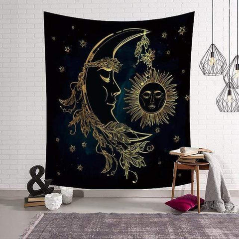 Stay Boho 130x150cm Moon Tapestry