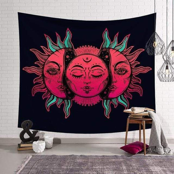 Stay Boho 130x150cm Pink Sun Tapestry