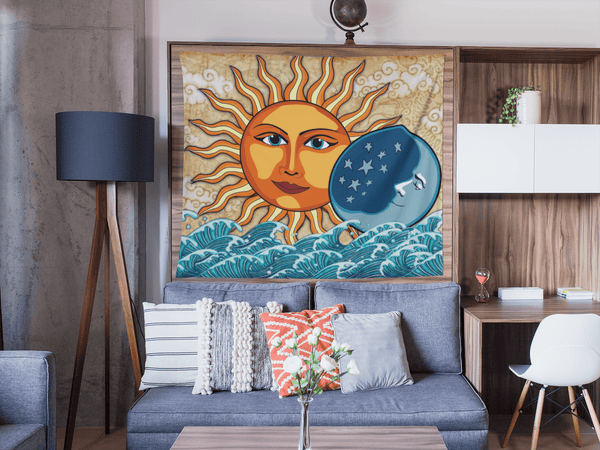 Stay Boho Sun & Moon Tapestry