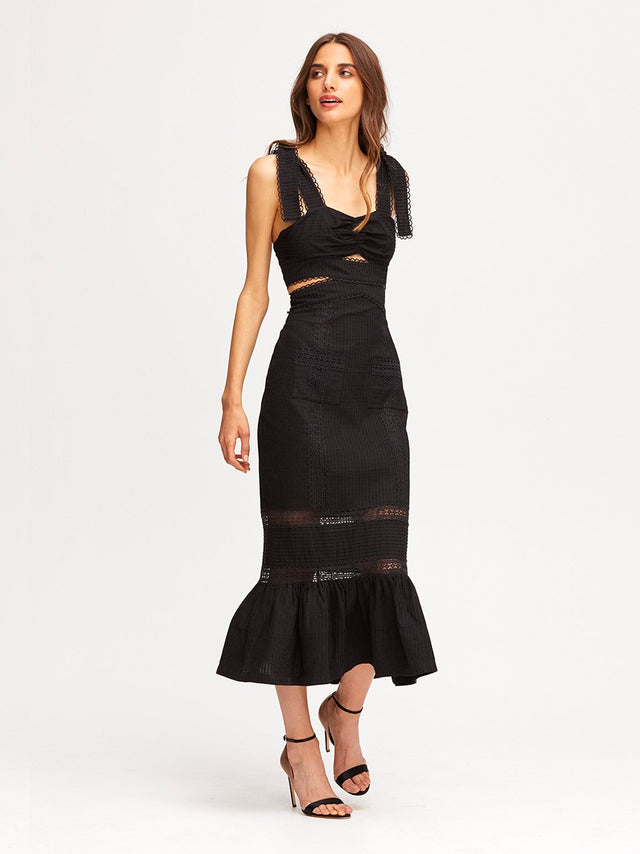 A FOREIGN AFFAIR MIDI DRESS
