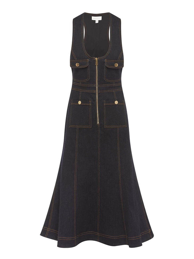 Club Noir Midi Dress