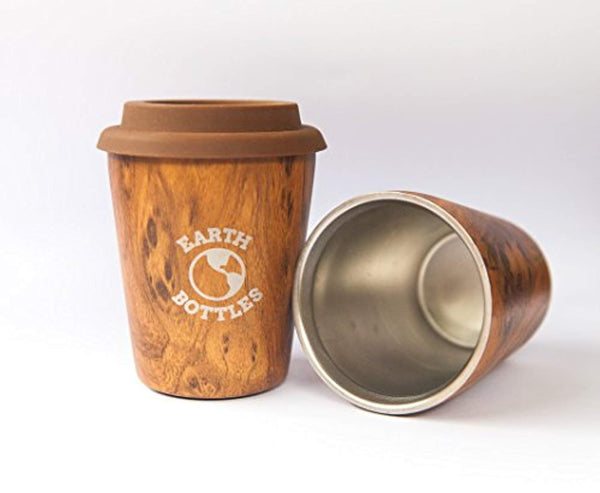 Taza de viaje de café  de 300 ml de pared doble de acero inoxidable