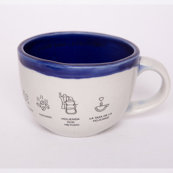 Taza Grande para Cafe color Azul