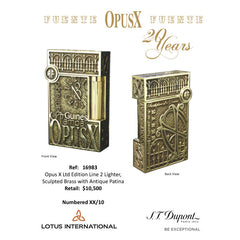 S.T. DUPONT OPUS X LIGNE 2 LTD. EDITION  [Sculpted Brass]