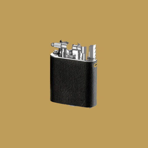 Dunhill Lighter <br> Turbo Sidecar Leather Palladium Plated