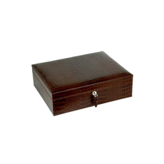 CROCO BROWN CIGAR HUMIDOR