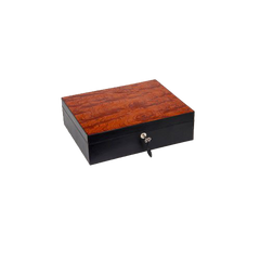 SUNRISE BLACK & BUBINGA CIGAR HUMIDOR