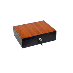 SUNRISE BLACK & ROSEWOOD CIGAR HUMIDOR
