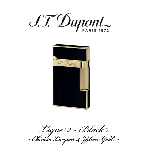 S.T. DUPONT LIGNE 2  [Black and Yellow Gold]
