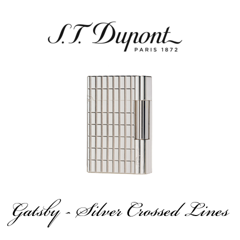 S.T. DUPONT GATSBY  [Silver Crossed Lines]
