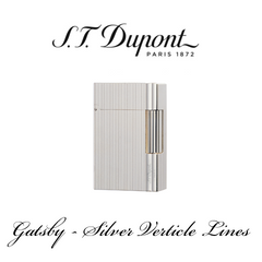 S.T. DUPONT GATSBY  [Silver Verticle Lines]