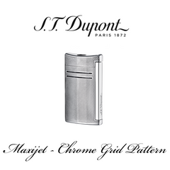 S.T. DUPONT MAXIJET  [Chrome Grid Pattern]