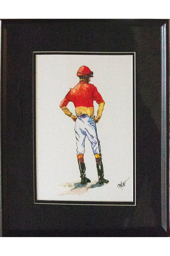 Framed Jockey Print