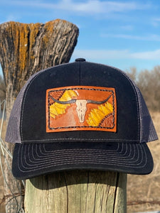 Sunflower Longhorn Patch Trucker Hat