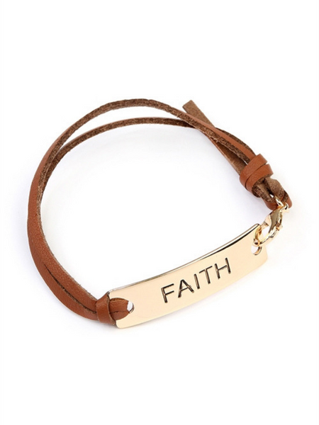 'Faith' Leather Bracelet {2 colors}
