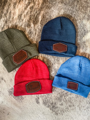 Punchy Patch Beanies