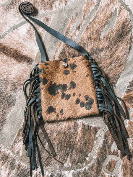 Laredo Mini Cowhide Crossbody {chocolate}