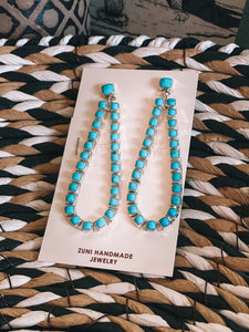 Riverside Turquoise Teardrop Earrings