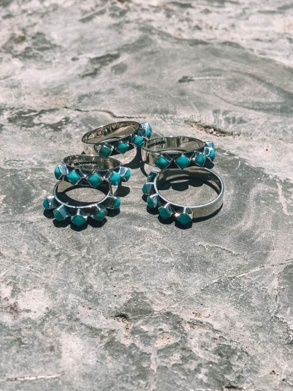 5 Stone Turquoise Stacker Ring