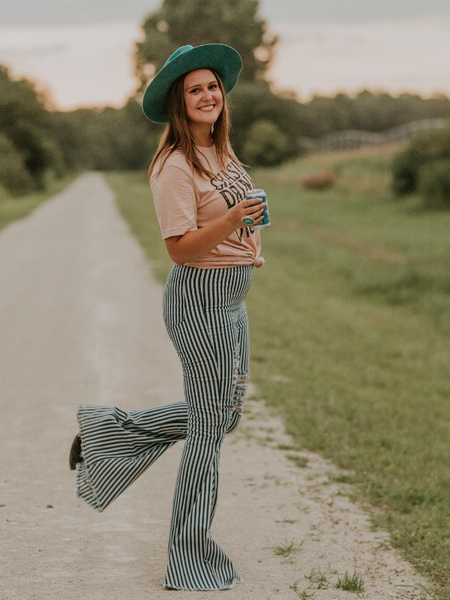 Langford Striped Bell Bottoms