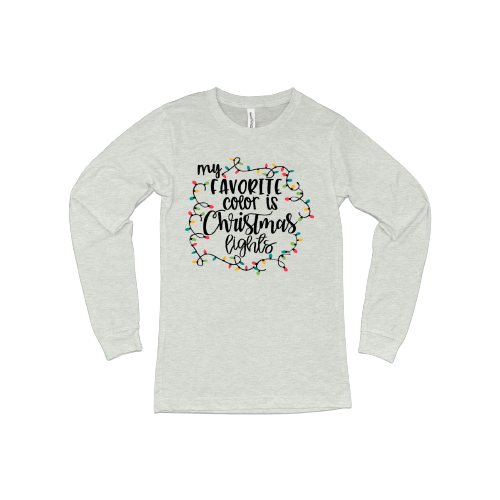 Favorite Color is Christmas Lights LS T-Shirt