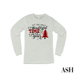 Plaid Most Wonderful Time of the Year LS T-Shirt