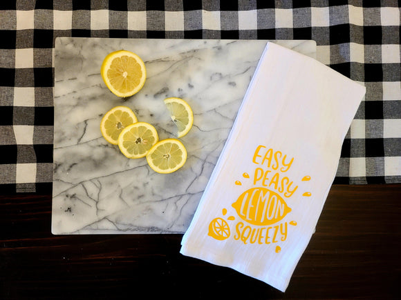 Lemon Squeezy Tea Towel
