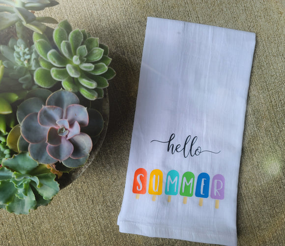 Hello Summer Tea Towel