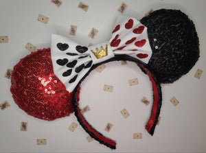 Queen of Hearts Inspired Minnie Ears