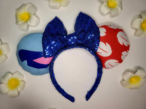 Lilo and Stitch Inspired Minnie Ears