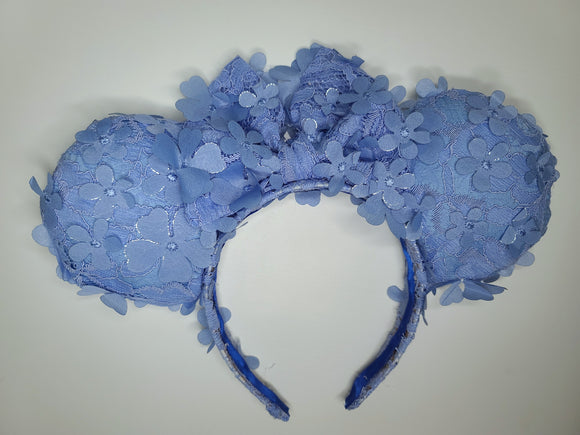 Floral Periwinkle Minnie Ears
