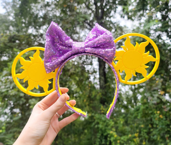 Tangled Sun Inspired Minnie Ears
