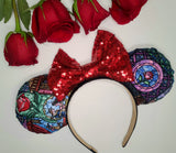 Beauty and the Beast Stain Glass Inspired Minnie Ears