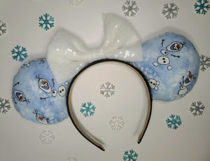 Olaf Inspired Minnie Ears