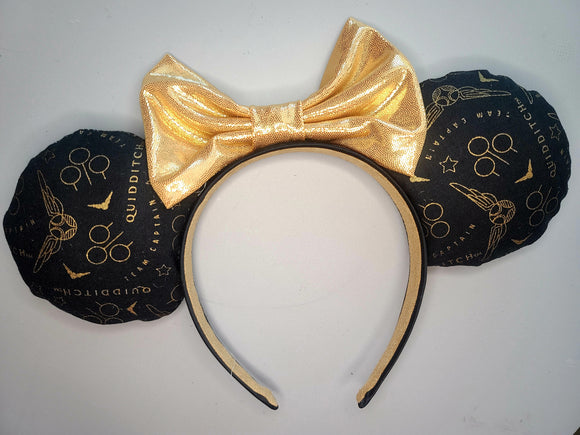 The Snitch Inspired Minnie Ears