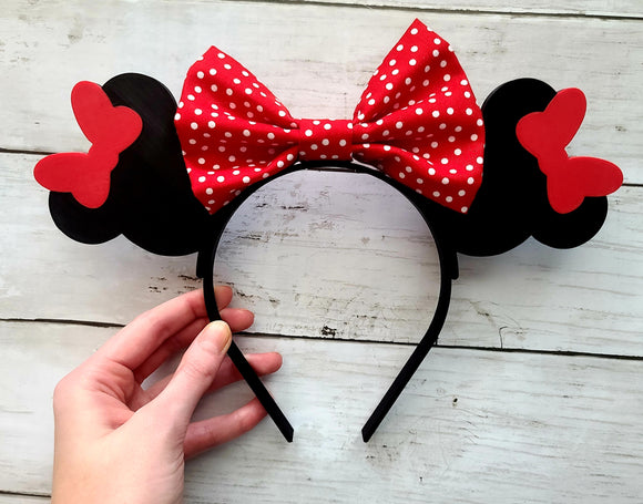 Minnie Mouse Inspired 3D Printed Minnie Ears