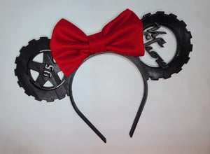 Lightning McQueen Inspired 3D Printed Minnie Ears