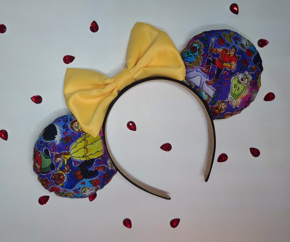 Beauty and the Beast Cartoon Inspired Minnie Ears