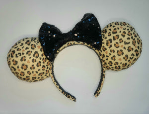Leopard Print Inspired Minnie Ears