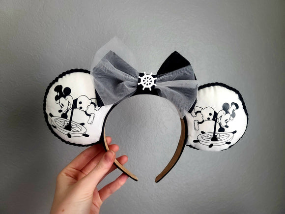 Steamboat Willie Inspired Minnie Ears