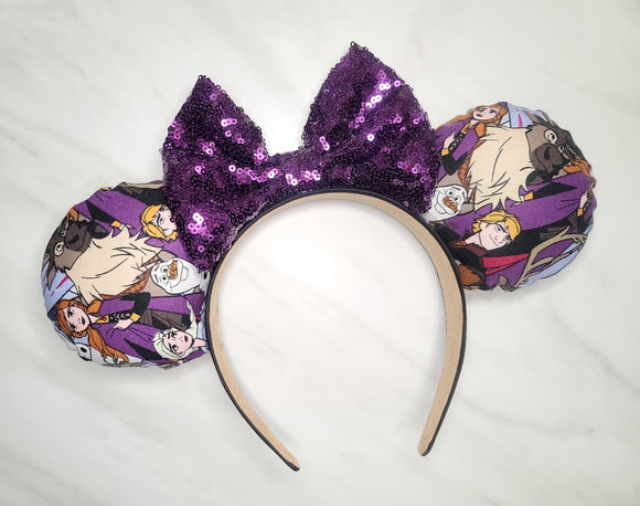 Frozen Inspired Minnie Ears