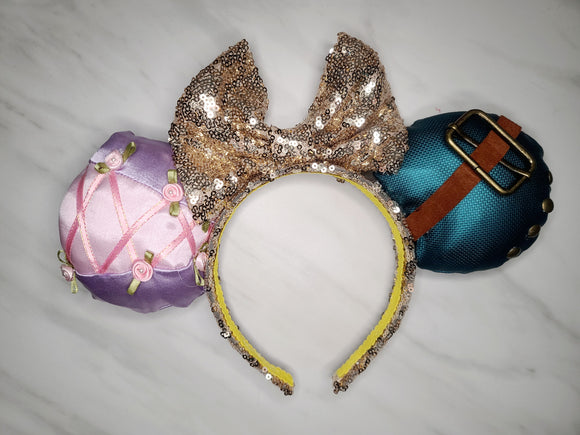 Rapunzel and Flynn Inspired Minnie Ears