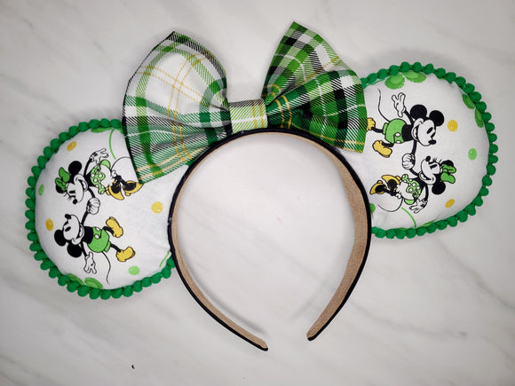 Lucky Mickey Inspired Minnie Ears