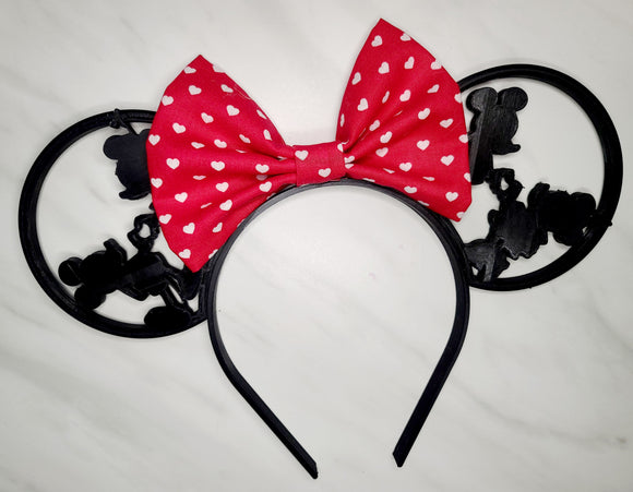Love Mickey and Minnie 3D Inspired Minnie Ears