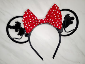 Kissing Mickey and Minnie 3D Inspired Minnie Ears
